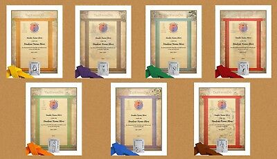 Martial Arts Certificates TaeKwonDo /& Karate Rank Certificates Pack of 10