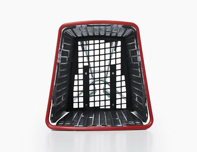 Red Shopping Trolley Small Supermarket Cart Araven Loop Trolley 100L 5