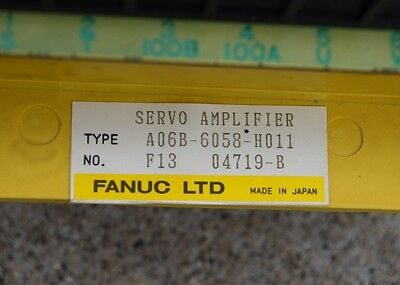 Fanuc A06B-6058-H011 Servo Amplifier, A06B6058H011 - USED