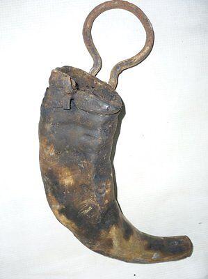 Antique Ottoman  Wood Pitch Tar Horn 18 century 2 • CAD $174.78