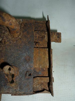 Antique Bulgarian Handforged Iron Door Lock 19 Century 4