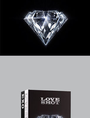 EXO [LOVE SHOT] 5th Repackage Album LOVE CD+POSTER+Foto Buch+Foto Karte SEALED 2