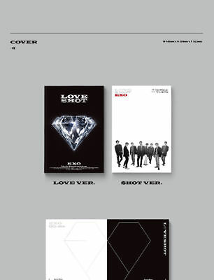 EXO [LOVE SHOT] 5th Repackage Album LOVE CD+POSTER+Foto Buch+Foto Karte SEALED 4