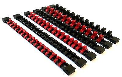 6 Goliath Industrial Abs Mountable Socket Rail Rack Holder Organizer 1/4 3/8 1/2 5