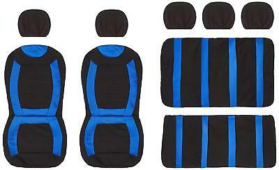 Carnaby Grey//Black Universal Car Seat Covers Set Matching Rubber /& Carpet Mats