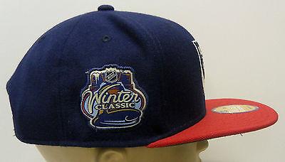 bd403b815fe786 ... NHL New York Rangers Reebok 2012 Winter Classic Flat Brim Cap Hat  Snapback OSFA 4