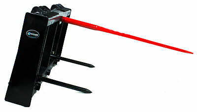 """Titan HD Frame, 43"""" Tractor Hay Spear & 2 Stabilizers Skid Steer 4000lb capacity 3"""
