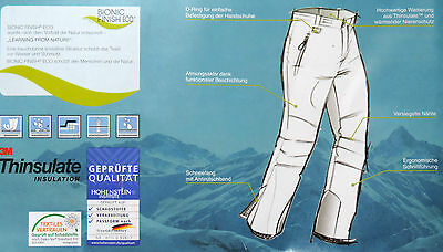Herren Skihose M L 48 50 52 54 Snowboardhose Schneehose Winterhose Ski Hose NEU