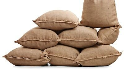 5 Burlap Sacks- Potato Sack Race Bags, Sandbags, Gunny Sack 22x36, Fish Bag 9