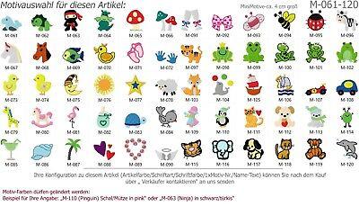 Kinder-Handtuch Gästetuch mit Namen/ Minimotiv bestickt *NEU* 5