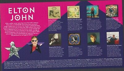 2019 - Elton John MS FDC - Music Giants Piano Lane London Pmk - Post Free 2