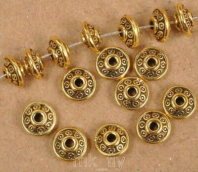 100pcs Tibetan Silver Antique gold loose beads spacer bead 6x3mm  FA3457 2