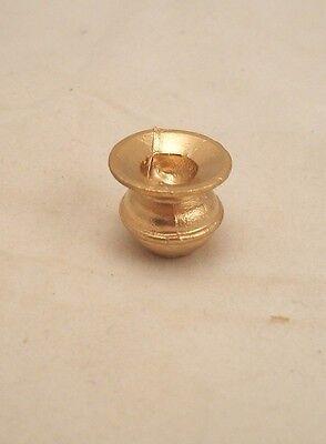 "Miniature /""Clare-Bell Brass Works/"" Solid Brass Spittoon DOLLHOUSE 1:12"