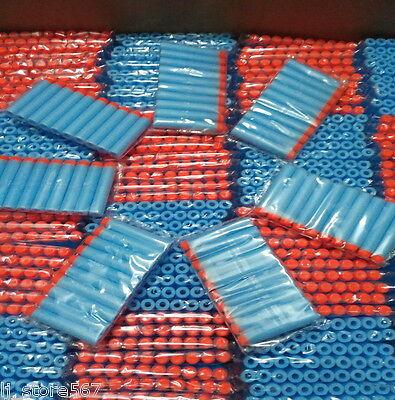 100x Bullet Darts For NERF Kids Toy Gun N-Strike Round Head Blasters #S Sky Blue 3