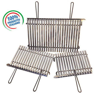 Griglia acciaio inox, graticola inox per barbecue + omaggio 2