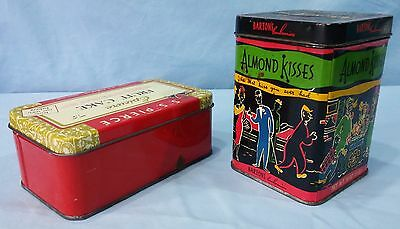 Vintage Advertising Tins Lithograph Epicure Fruit Cake And Barton's Almond Kiss 6