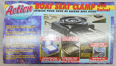 BOATING ACTION JON BOAT SEAT CLAMP MOUNT WITH SWIVEL BOAT FISHING MADE IN USA