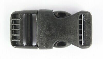 Rounded Side Release Buckles Black Plastic Clips Rucksacks Replacement All Sizes 6