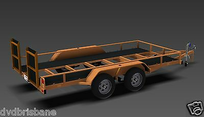 Trailer Plans - TILT FLATBED CAR TRAILER PLANS (14x6ft) - 2500kg - PLANS ON USB 4