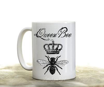 Queen Bee Funny Coffee Mug Boss CoWorker Best Friend Diva Coffee Cup Gift