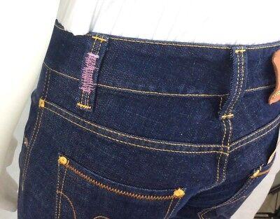 cee99c41dc95 ... Met Jeans Pantaloni New Lady Donna Zampa Aderenti Vita Media Bassa Blu  Denim 6