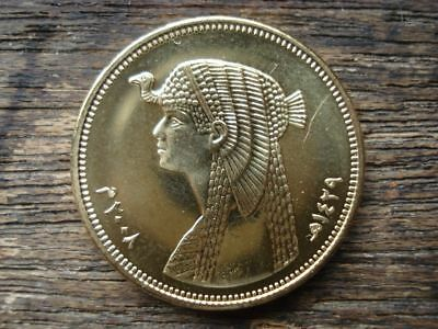 Original Antique Ancient Egyptian 50 Piasters Coin (Cleopatra Version) Age 7-20 3
