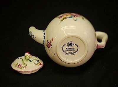 Mennecy Miniature Tea Pot Victoria & Albert Museum 1985 Franklin Mint Porcelain 4