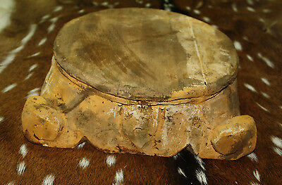 Carved Wooden PEDESTAL Base RISER ARCHITECTURAL Capital Cheese Cake Plant Stand 4