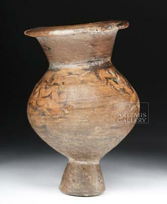 Greek Terracotta Lydion w/ Swirled Pattern Lot 18A