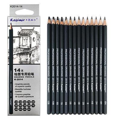 Kasimir Bleistiftset Zeichenbleistifte Bleistifte, 14er Set, 6H bis 12B 2