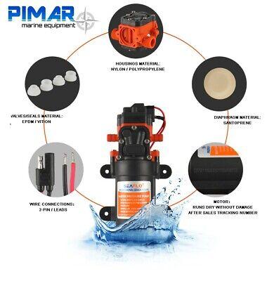 Pompa Autoclave Acqua 12V. - 4,0 Lt/ Min Barca Camper Seaflo Con Pressione 4.8 2