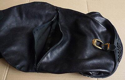 dedbbe9f07 GRAND SAC À main besace en cuir noir + caoutchouc BOCAGE - EUR 89,00 ...