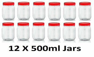 300ml Clear Plastic Gripper Spice//Storage Jars with Shaker Caps 1-72