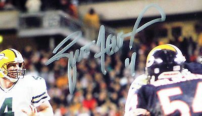 5fbc1903c ... GREEN BAY PACKERS BRETT FAVRE 4 signed vs Bears Brian Urlacher 8x10  PHOTO BF COA 2