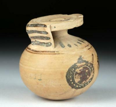 Greek Pottery Aryballos w/ Hoplites Lot 14D