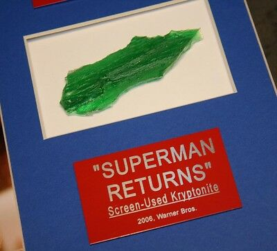 SUPERMAN Signed AUTOGRAPHS Routh, Spacey, Bosworth, Langella + KRYPTONITE Prop 2