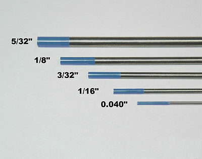 "10-pk TIG Welding Tungsten Electrode 2% Lanthanated Blue 3/32""x7"" US Seller Fast 4"