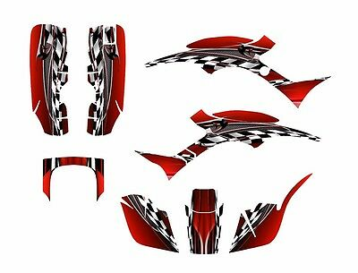 HONDA TRX400EX 1999-2004 WRAP DECAL GRAPHIC SET KIT /'STIFF UPPER LIP/' YELLOW