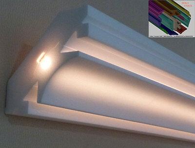 "Stuckleiste LED Beleuchtung 5 m /""Sören/"" 5 Meter Stuckleiste Tamme"
