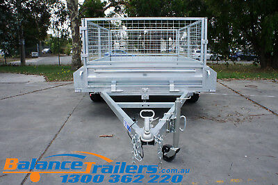 7x5 HOT DIP GALVANISED FULL WELDED TIPPER BOX TRAILER WITH 600MM REMOVABLE CAGE 2