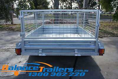 7x5 Hot Dip Galvanised Fully Welded Tipper Box Trailer With 600mm Removable Cage 5