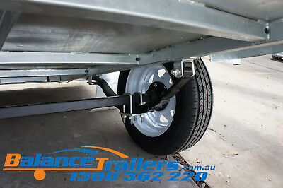 7x5 Hot Dip Galvanised Fully Welded Tipper Box Trailer With 600mm Removable Cage 12