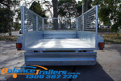 7x5 Hot Dip Galvanised Fully Welded Tipper Box Trailer With 600mm Removable Cage 6