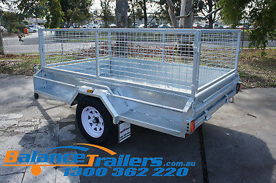 7x5 Hot Dip Galvanised Fully Welded Tipper Box Trailer With 600mm Removable Cage 4