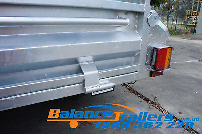 7x5 HOT DIP GALVANISED FULL WELDED TIPPER BOX TRAILER WITH 600MM REMOVABLE CAGE 11