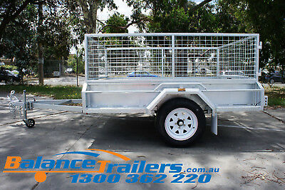 7x5 HOT DIP GALVANISED FULL WELDED TIPPER BOX TRAILER WITH 600MM REMOVABLE CAGE 4