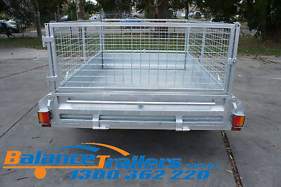 7x5 HOT DIP GALVANISED FULL WELDED TIPPER BOX TRAILER WITH 600MM REMOVABLE CAGE 6
