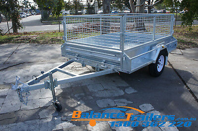 7x5 Hot Dip Galvanised Fully Welded Tipper Box Trailer With 600mm Removable Cage 3