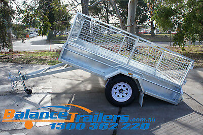 7x5 Hot Dip Galvanised Fully Welded Tipper Box Trailer With 600mm Removable Cage 10