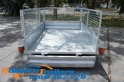 7x5 HOT DIP GALVANISED FULL WELDED TIPPER BOX TRAILER WITH 600MM REMOVABLE CAGE 7